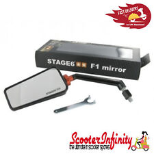 Mirror F1 Stage 6 Right Hand Black - Vespa ET LX LX GTS GTS Super GTV GT GT L