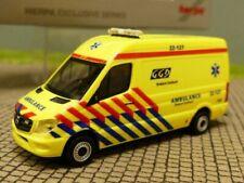 FW Niederlande 936996-1:87 Herpa Mercedes Sprinter mit Anhänger BRANDWEER