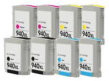 Reman HP 940XL Black/Color Ink Cartridge for HP OfficeJet Pro 8500 Wireless 8PK