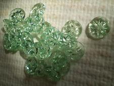10 Schmuckknöpfe Verde Transparente Artículos Mandala Flor 13mm Botones Кнопки