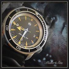 Müller&Son Seiko SKX Seamaster 300 Spectre Watch Mod + Genuine Shark Watch Strap