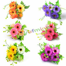 Artificial Daisy Home Wedding Bouquet Silk Flower Decor 6 teste 2