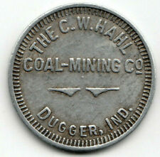 Dugger Indiana token - The C.W.Hahl Coal Mining Co - 10¢ Mdse - IN 848-D10, R-10