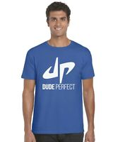 Dude Perfect YouTuber YouTube Kids T-Shirt Tee Top (White Print) Ages 3-13