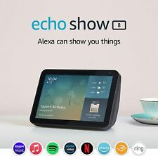 AMAZON ECHO SHOW 8 (1ST GEN) CHARCOAL BLACK NEW UK SELLER