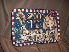 Mary Engelbreit Year 2000 Y2K New Millennium 21St Century Accent Pillow Cover