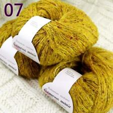 Sale 3BallsX50gr Luxury Fluffy Soft Mohair Wool Wrap Hand Knit Crochet Yarn 07