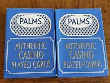 2 Decks Palms Casino Las Vegas Playing Cards. Used in Casino.