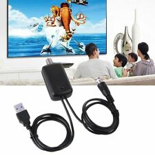 Black HDTV Aerial Amplifier Signal Booster TV Antenna with USB Power Supply 25dB