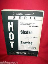 LE SFINGI Shafer + Footing 1967 Spartiti BEAT Ed OLIMPIA