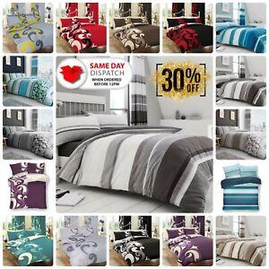 DUVET COVER Bedding Set Reversible Quilt Bed Pillowcase Single Double King Size