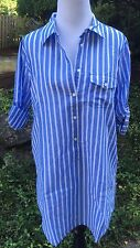 J.Crew New With Tag Tunic Beach Coverup Positano Blue Size M