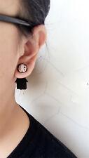 Handwork Spirited Away No Face man Kaonashi Cosplay Ear stud Earrings Fun Gift