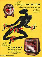 PUBLICITE ADVERTISING 045  1956  CALOR  radiateur soufflant  SOUDAN