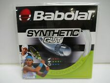 6 Sets: Babolat Synthetic Gut 16 (1.30) White Monofilament Tennis String