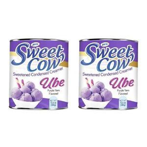Jans Sweet Cow Ube Purple Yam Sweetened Condensed Milk Creamer 13.4 Oz 2-Pack