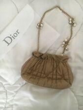 Original Christian Dior Delices Gaufre Beige Clutch Tasche Evening bag