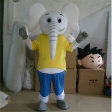 2018 hot Adult Cosplay Elephant Mascot Costume Dress Suit Party Halloween Outfit