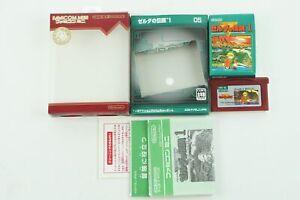 LEGEND OF ZELDA Famicom Mini GBA Nintendo Gameboy Advance Box From Japan