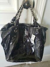 STEVEN STEVE MADDEN X-Lrg Black PU Shoulder Hobo Tote Carryall Satchel Purse Bag