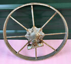 Iron 8 Spoke Wheelbarrow Wheel 16'' vintage steel rim farm antique