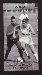 Bowdoin Polar Bears--2002 Soccer/Fall Sports Schedule--Fairfield Inn