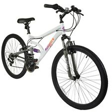 "Muddyfox Inspire 26"" Ladies Dual Suspension Mountain Bike in White with 18 Speed"