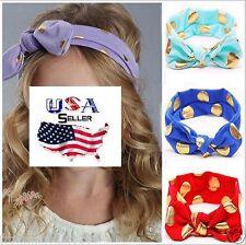 Lot of 12 Top Knot Headbands Turban Headwraps Baby Toddler Girls Rabbit Ears