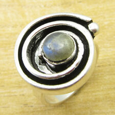 Natural Labradorite HANDMADE Ring Size J 1/2  Silver Plated Jewelry ONLINE STORE