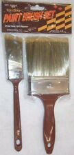 """3 Polyester Paint Brush Sets 2pc Each 1 1/2 & 4"""" 6 Brushes Total"""