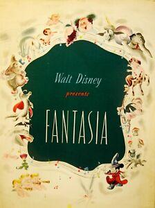 FANTASIA - 1940 - W.DISNEY - Très RARE Press Book ORIGINAL - USA