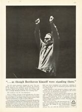 """1961 Angel Records Dr. Otto Klemperer """"Beethoven"""" Musical Print Ad"""