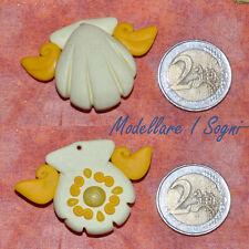 Collana Mermaid Melody GIALLA - Coco Necklace in Yellow - handmade fimo / premo