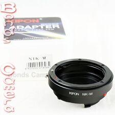 Kipon Nikon F AI mount lens to Leica M L/M Adapter M8 M9 M-E 240 Ricoh GXR A12