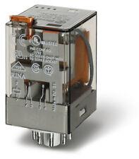 FINDER 3C/O General Purpose Relay inc Base 11P 110V LED/LATCH/TEST 10A 3pole