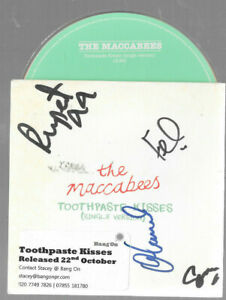 THE MACCABEES - toothpaste kisses - SIGNED  - CD  1  Track