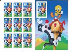 US STAMPS SC# 3204 SYLVESTER AND TWEETY   10 STAMP PANE M/NH BRKMN CV $14.50
