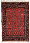 Handmade vintage Uzbek Bukhara rug 3.9' x 5.8' (121cm x177cm) 1960s - 1C740