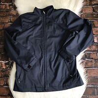 NIKE GOLF Jacket Women's Size Large Lightweight Full Zip Navy Blue Clima Fit