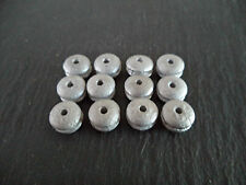 Dinky Pre - War Smooth Wheel Hubs x 12   White Metal Casting / spare parts