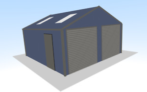 Steel Framed Buildings - Domestic Double Garage - 6m x 6m x 2.5m Steel Building