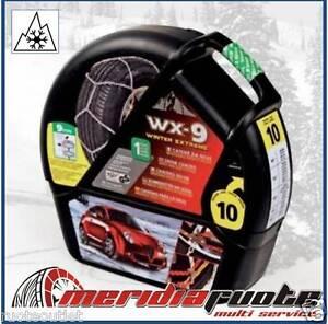 "CATENE DA NEVE ""WX-9 SNOWDRIVE WINTER EXTREME"" *GR.9,7* 9MM OMOLOGATE VW TOURAN"
