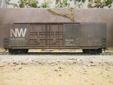 Ho Scale Norfolk & Western 50' Box Car Custom Weathered W/End Of Train Device