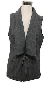 Ladies YARRA TRAIL Linen Blend Tie Up Vest. Size 12. As New