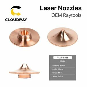 Fiber Laser Nozzle Single Layer Dia.32mm H15mm M14 for Raytools Cutting Head