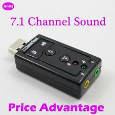 USB 2.0 7.1 Channel 3D Virtual External Audio Sound Card Adapter For Desktop C48