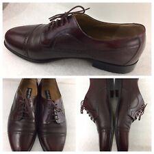 Stamati Mastroianni Italy Mens Size 11 W Burgundy Leather Cap Toe Dress Oxfords