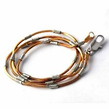 "18.1"" Rose Gold Plated womens mens Vintage Silver snake necklace chain Jewelry"