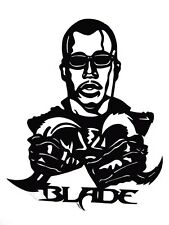 "BLADE,Original Pop Art,Film 4""X 5"" inches clear reusable Vinyl decal Sticker."