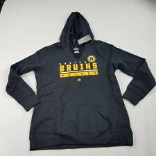 Boston Bruins Hockey Hoodie Sweatshirt XL Black Pullover Long Sleeves New   aafd